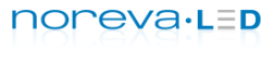 Logo der Pflegeprodukt-Marke noreva LED.